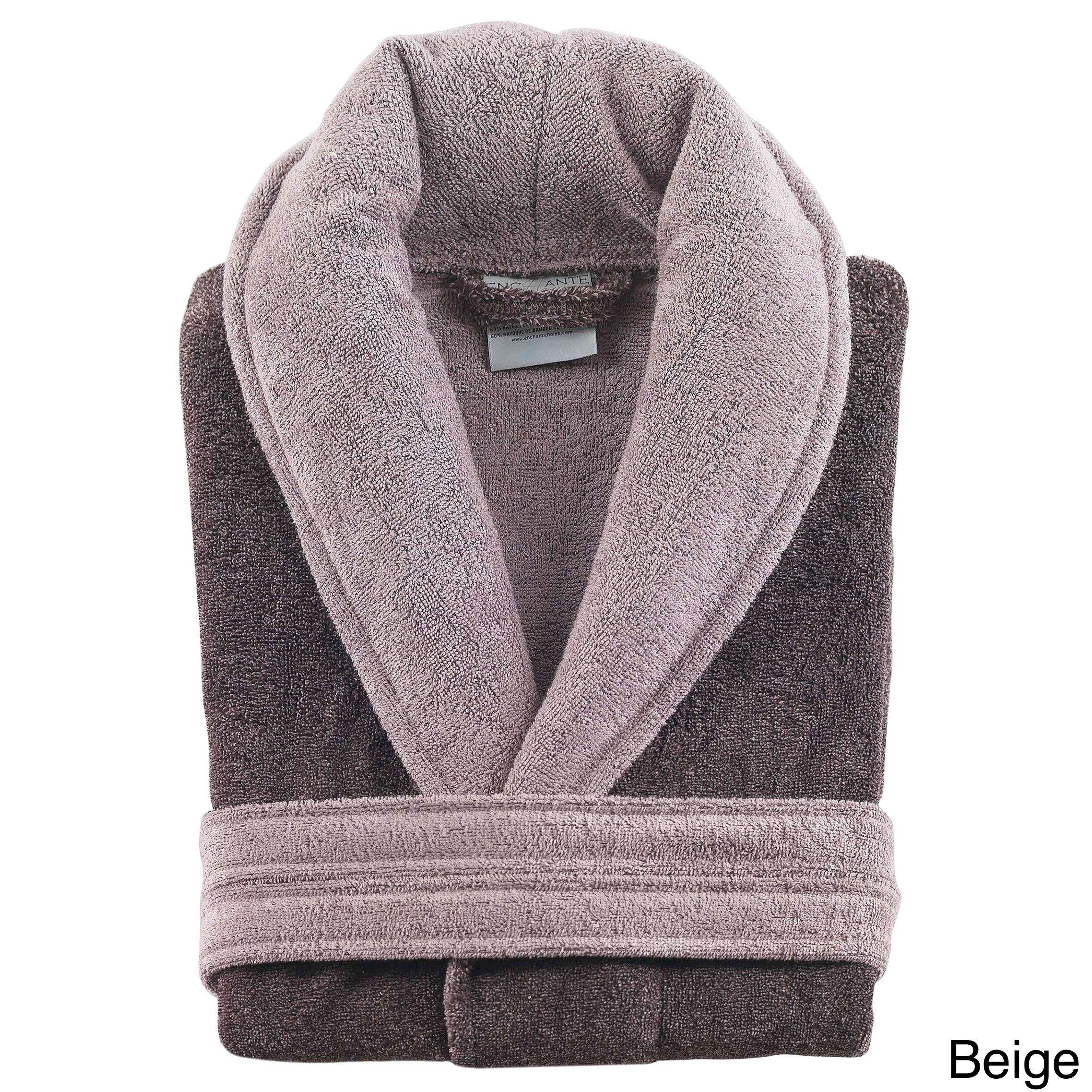 530896c7ab Enchante Home Mulline Supersoft Luxury Bath Robe (Beige) (cotton ...