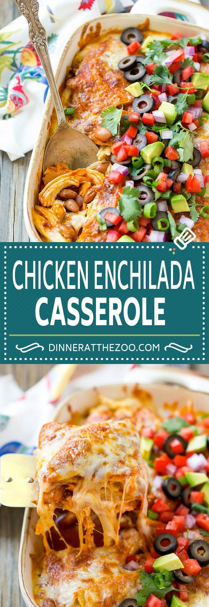 Chicken Enchilada Casserole Recipe | Mexican Casserole | Chicken Enchiladas