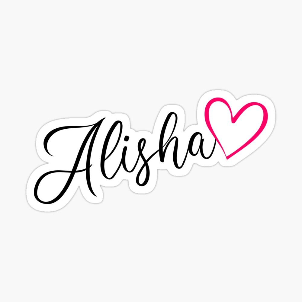 Alisha Name Calligraphy Pink Heart Sticker By Xsylx In 2021 Heart Stickers Names Attitude Quotes For Boys Flower zaid name wallpaper