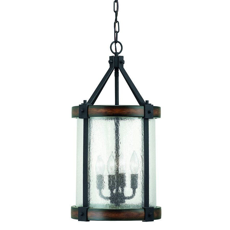 Outdoor Entryway Lighting Ideas: Shop Kichler Lighting 4 Light Wood Foyer Pendant At Lowe's