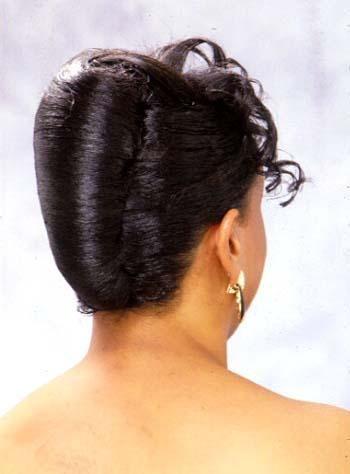 White And Gold Wedding Bridesmaid Hair