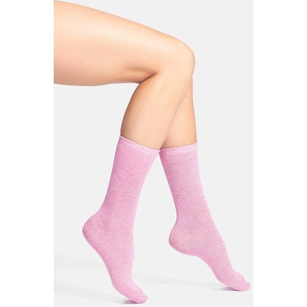 Women's Nordstrom Heather Crew Socks ($7.33) ❤ liked on Polyvore featuring intimates, hosiery, socks, crew cut socks, heathered socks, mid calf socks, crew length socks and nordstrom socks