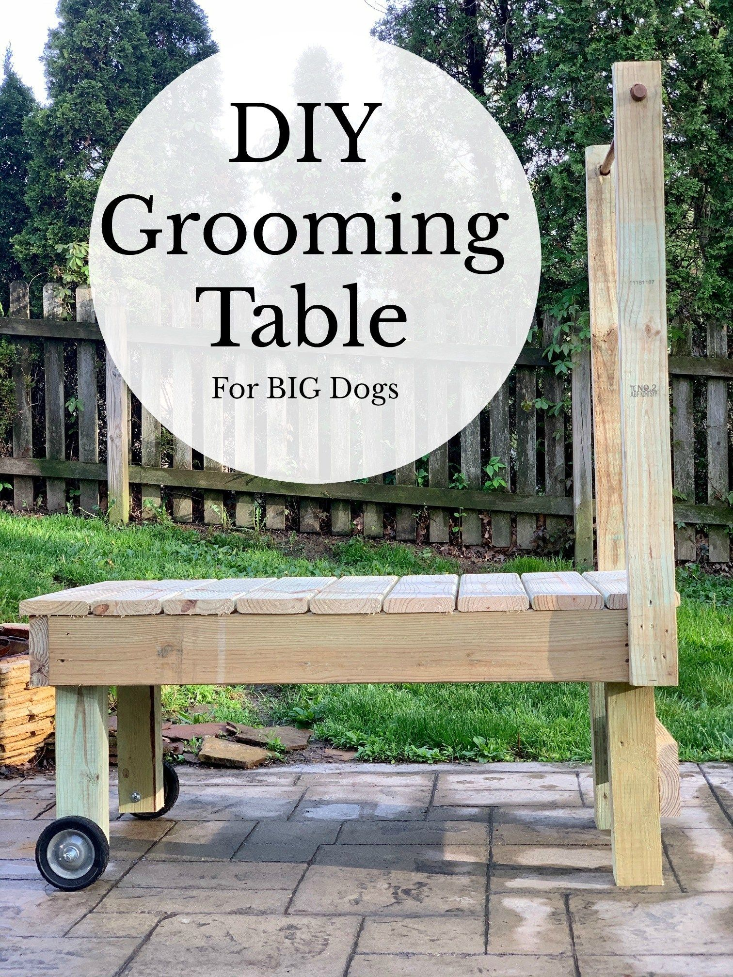 DIY Grooming Table (For Big Dogs) - My Brown Newfies. This DIY grooming table is perfect for big dogs and is easy to make. All the materials were less than $80 and you can customize it any way you want!