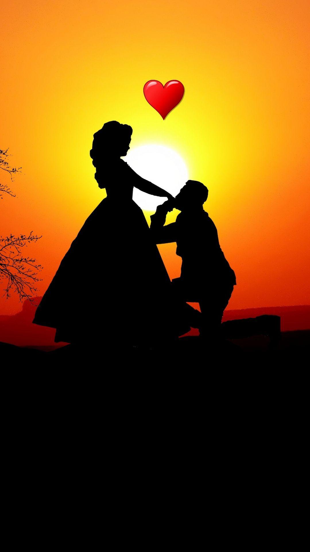 Couple Love Silhouette Sunset Romantic Wallpaper Romantic Wallpaper Love Wallpaper Backgrounds Love Couple Wallpaper