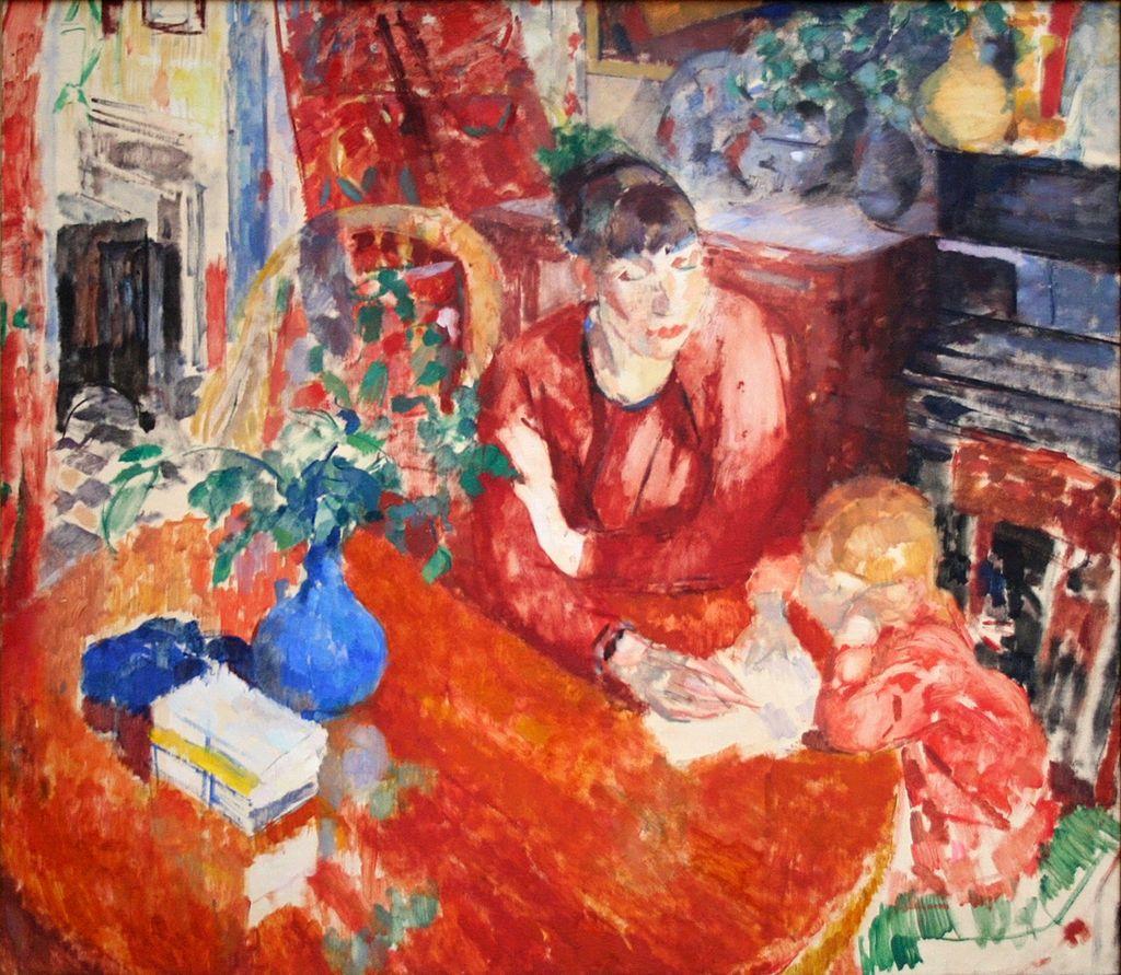 Rik Wouters: De opvoeding - oil on canvas/1912