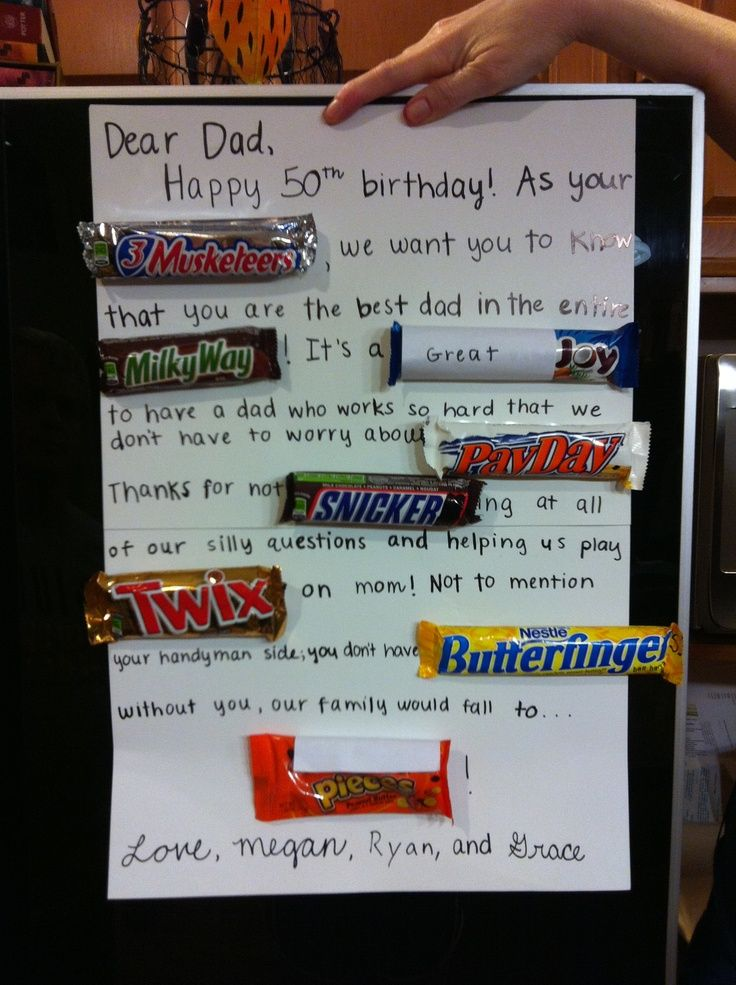 Candy Bars To Use For Birthday Cards Cute Birthday Card Idea With