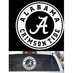 Alabama Crimson Tide Roll Tide Window Decal Sticker Custom Sticker Shop