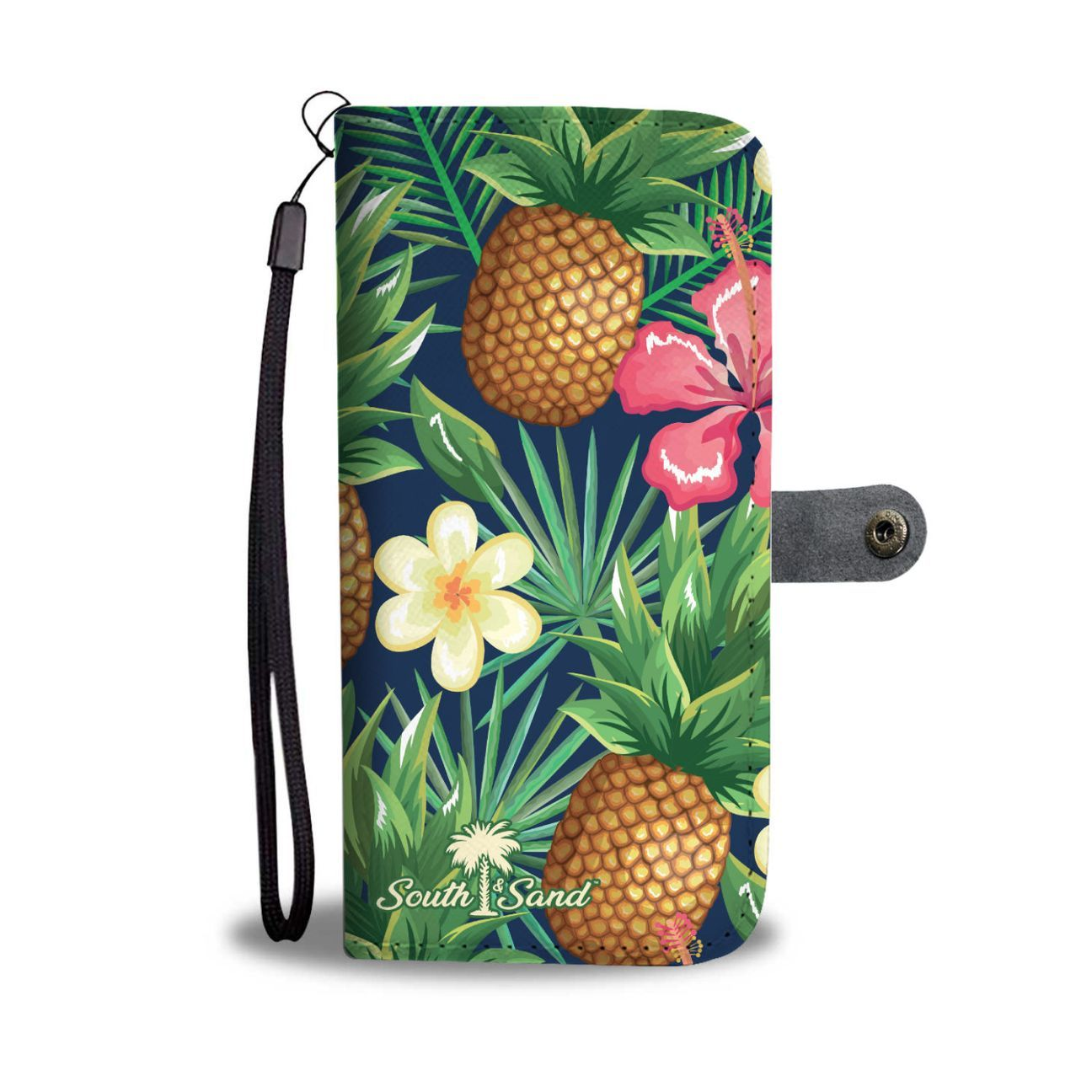 Tropical Pineapple Wallet Phone Case