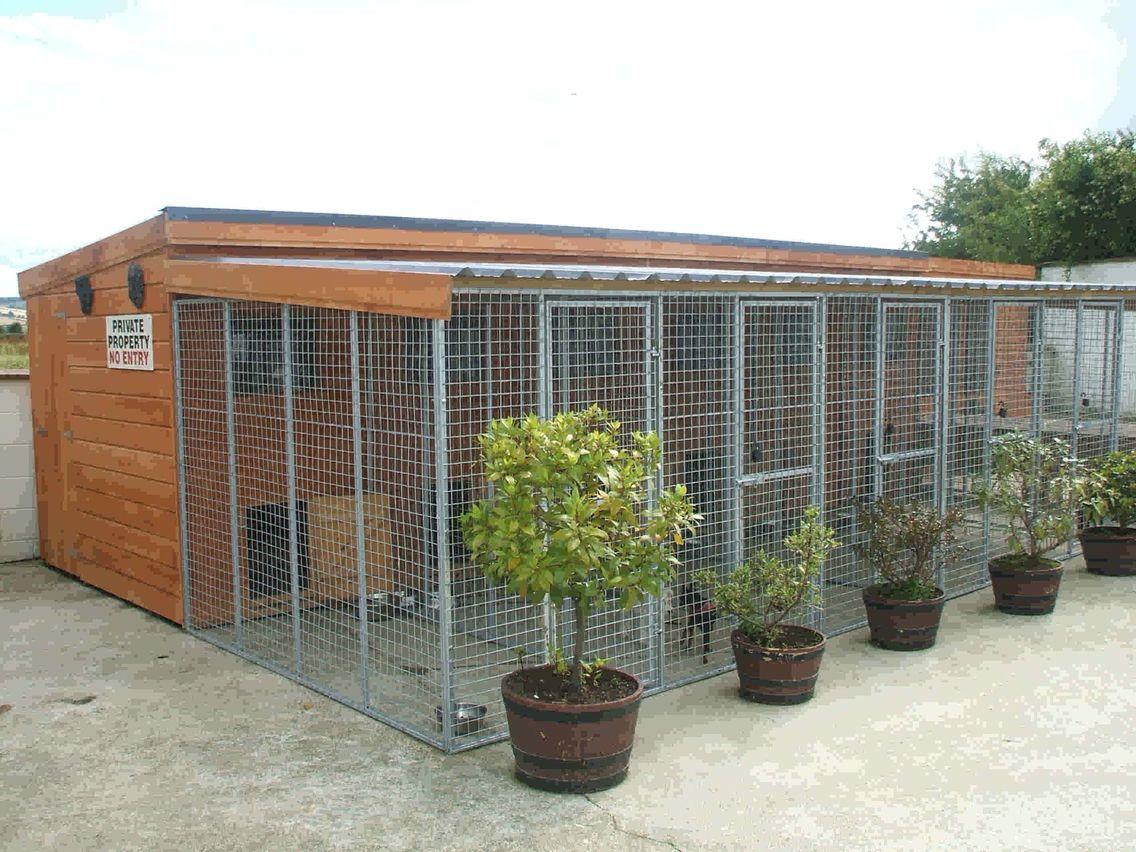 Multiple dog kennel dog kennels pinterest dog for Building dog kennels for breeding