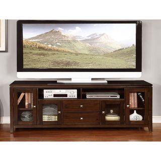 Essex 72 Inch Wide Coffee Brown Tv Media Stand Overstock Com