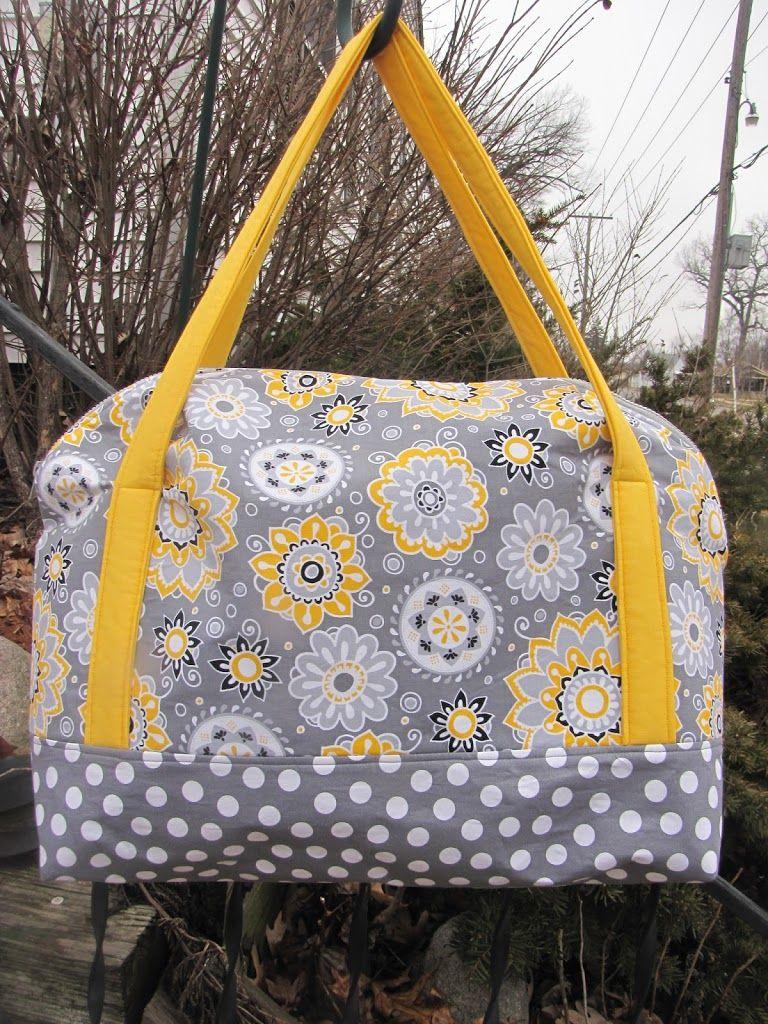 Tutorial / E-book / pattern / sewing / Weekender / Aeroplane bag ...