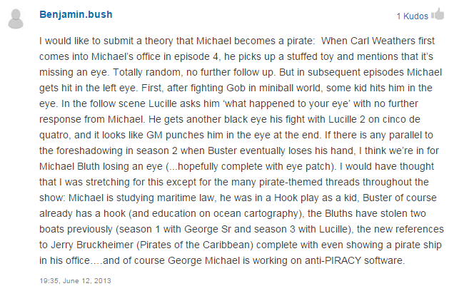 Redditor predicts that Michael Bluth will lose an eye in Arrested Development movie