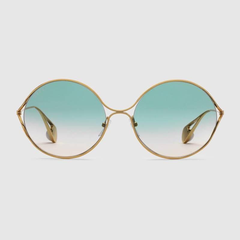 Round Frame Metal Sunglasses 550 Print Style 506149 I0330 8835 Metal Sunglasses Round Sunglasses Women Round Sunglasses