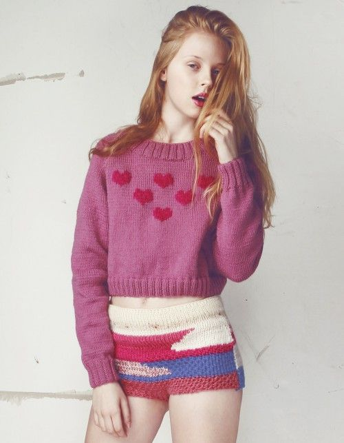 Sweter PINK MOHAIR HEARTS