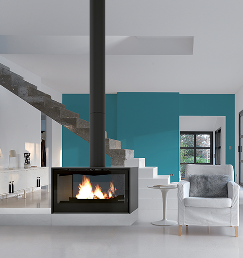 Axis I1000 Double Sided Freestanding Wood Fireplace Hawkesbury