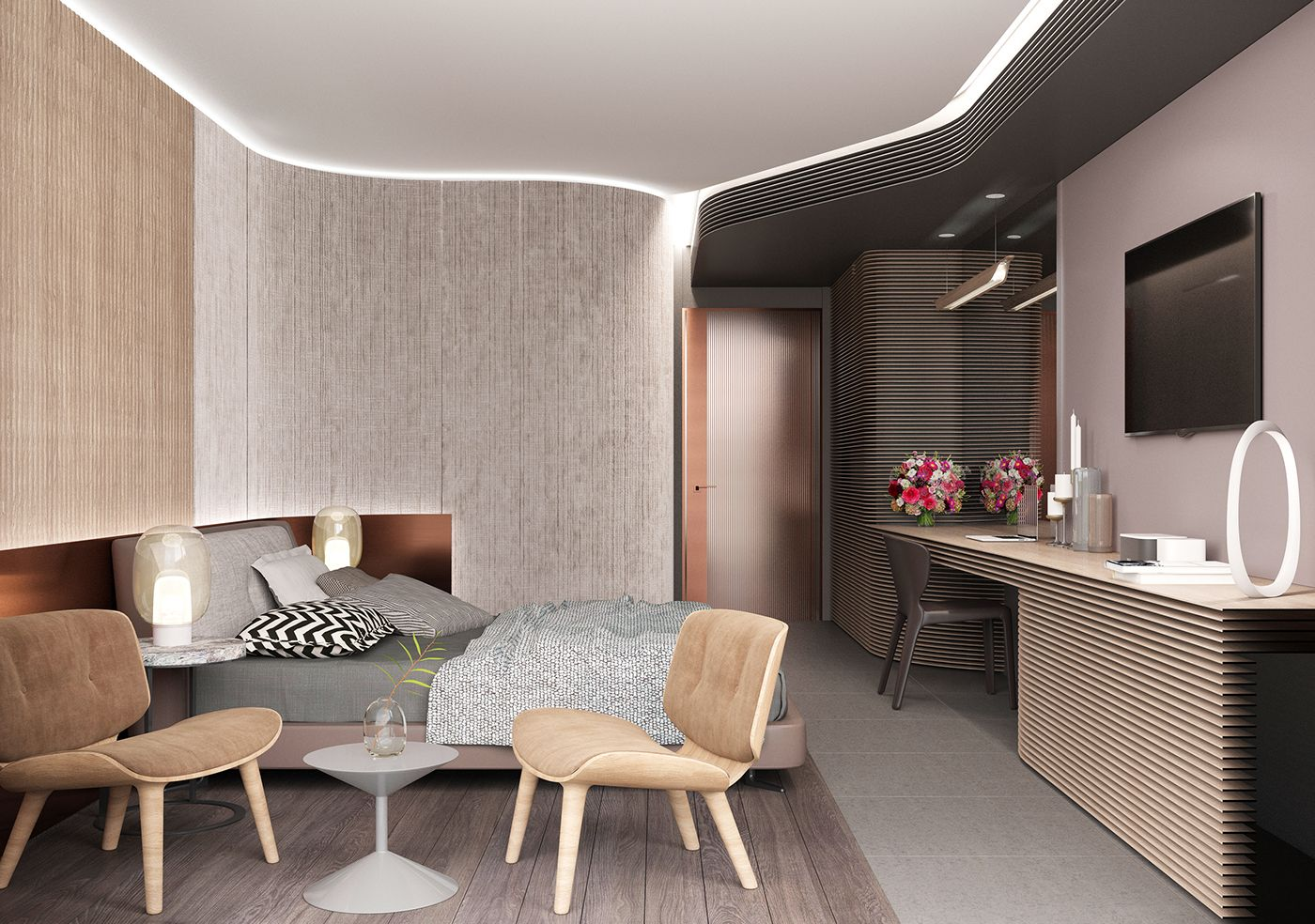 Best Hotel Room Corona Render On Behance Can H* Green 640 x 480