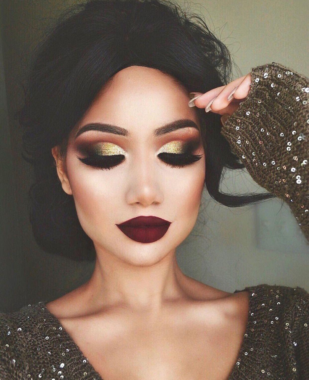 pinterest: @ nandeezy † | Christmas makeup look, Beauty makeup, Hair makeup