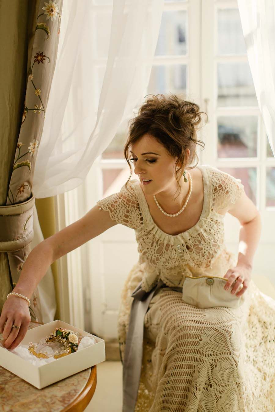 Unique style wedding dresses  An Intimate Edwardian Inspired Elopement in Portugal Meadhbh