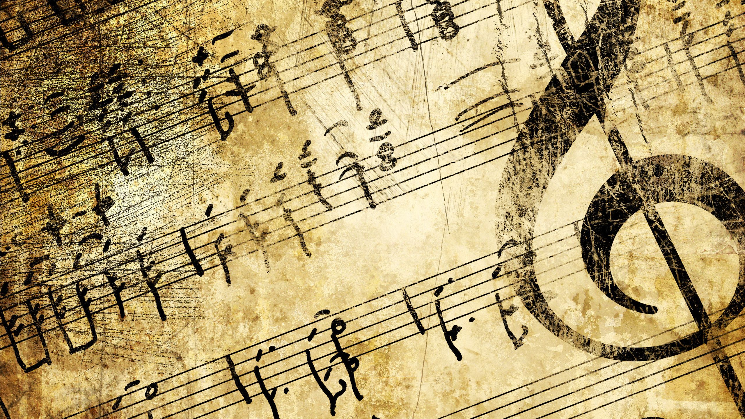 Muzyka Music Wallpaper Sheet Music Vintage Music