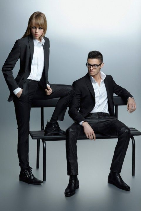 Edie Campbell & Baptiste Giabiconi for Karl Lagerfeld Fall-Winter 2012