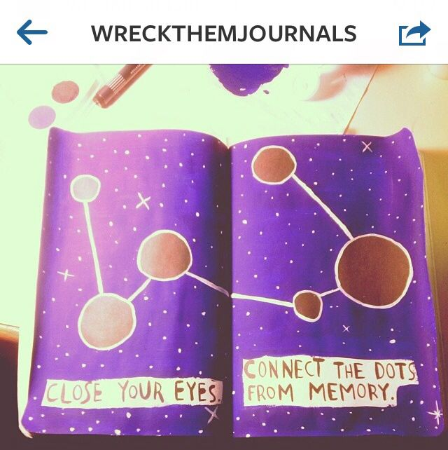 Wreck this journal connect the dots