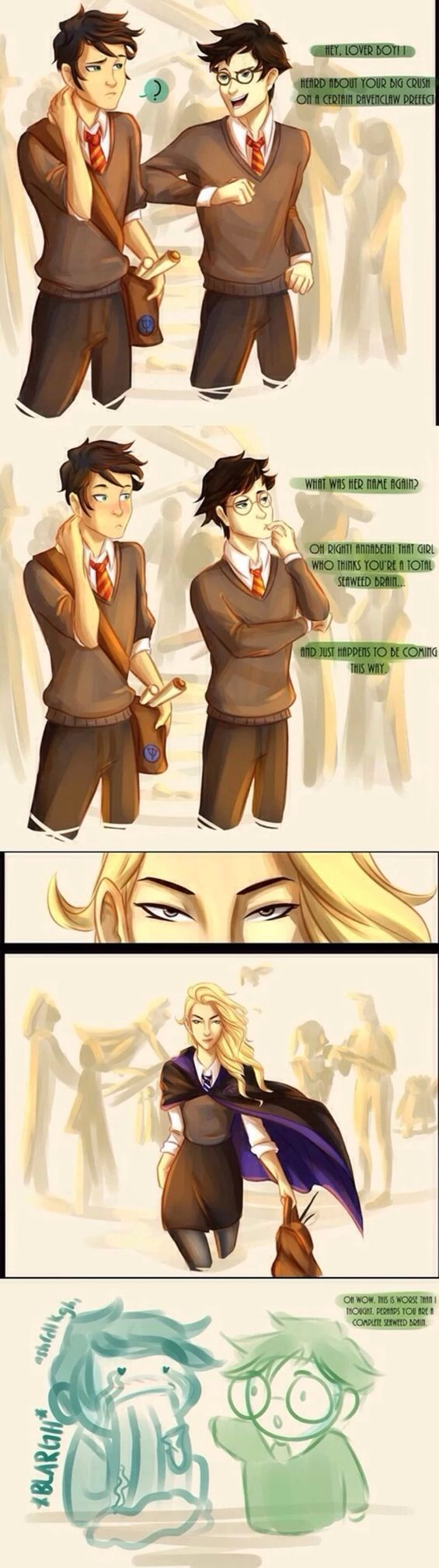 There Needs To Be More Percy Jackson Harry Potter Crossovers In The World This Would Be An A Percy Jackson Funny Percy Jackson Fan Art Percy Jackson Books