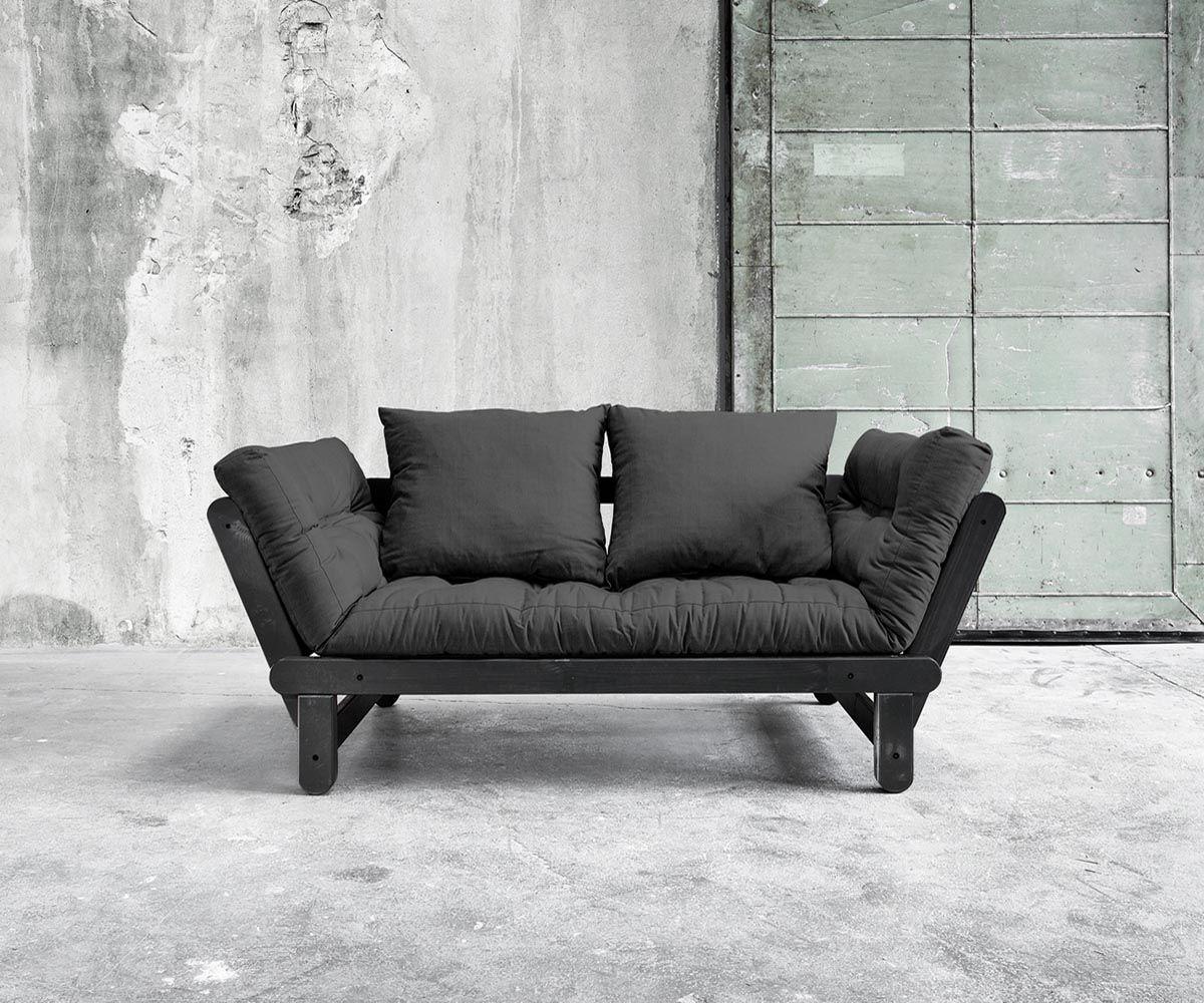 Futon Gestell futonsofa im scandi look schwarzes gestell aus massivholz futon