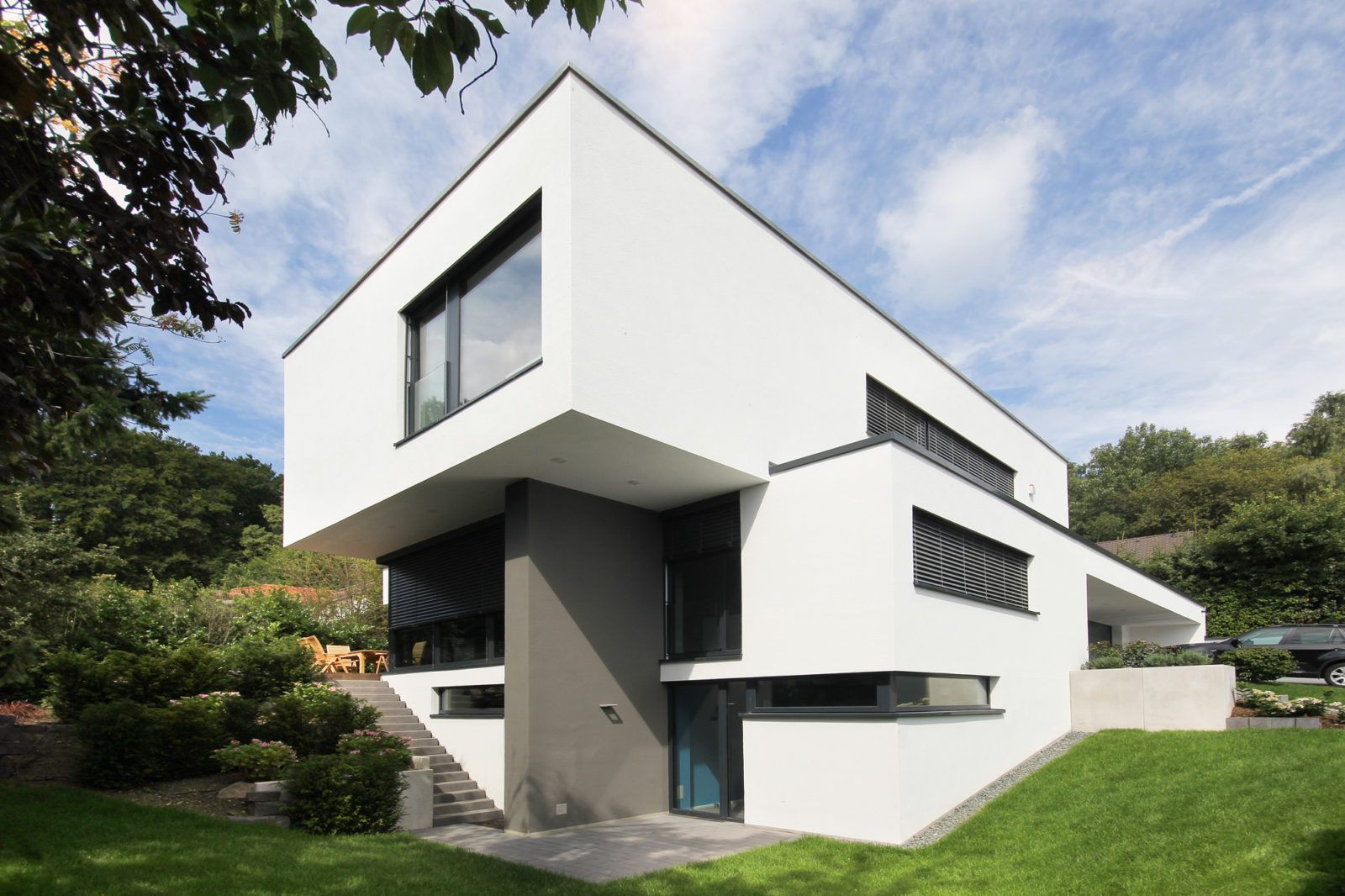 Moderne häuser neubau  Architektenhaus in Königstein bauen - Flachdach | Bauhaus ...