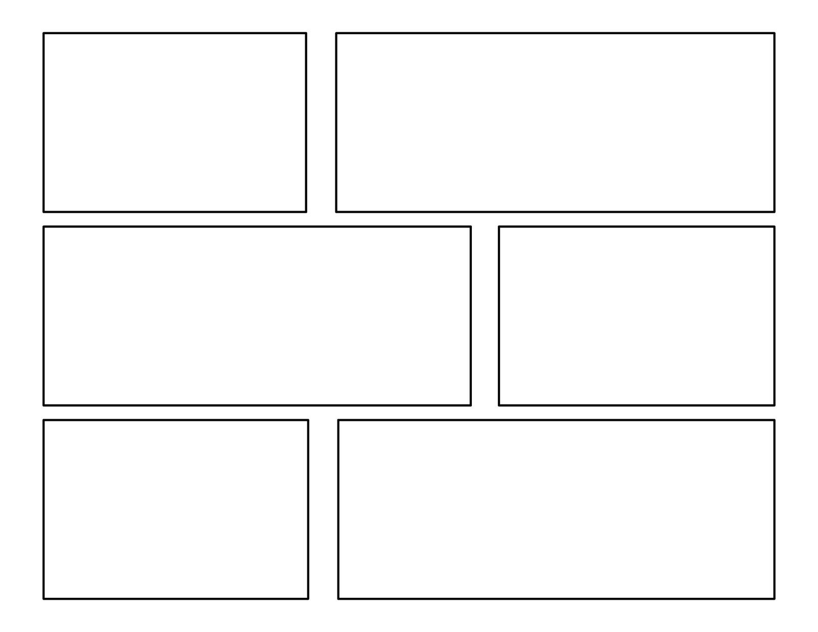 3rd Grade: First Batch Of Comic Templates Comic Panels - 1600x1236 ...