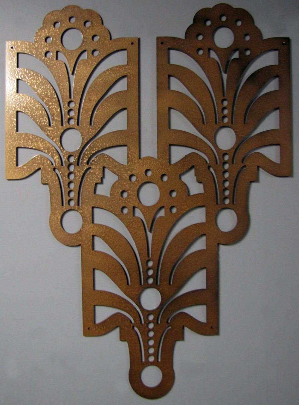 Exceptionnel Art Deco Arts And Craft Decorative Wall Art In Tiger Eye 23 X 33 CLEARANCE.