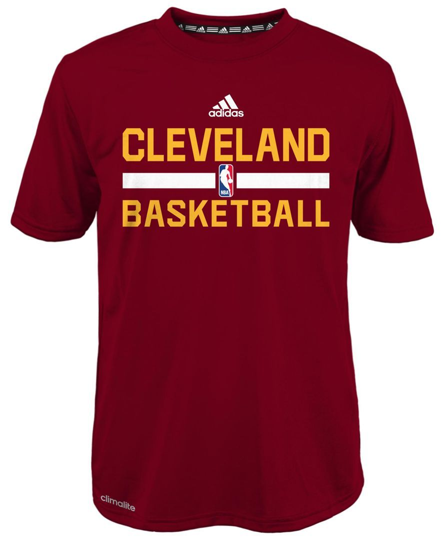 hot sale online aa25f d6f54 adidas Boys  Cleveland Cavaliers Practice Wear Graphic T-Shirt