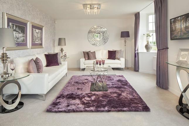 Lounge purple sofa rug velvet curtains white silver also home