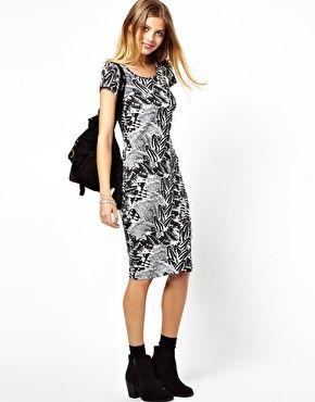 Image 1 ofVero Moda Punk Feather Column Dress | $33.75