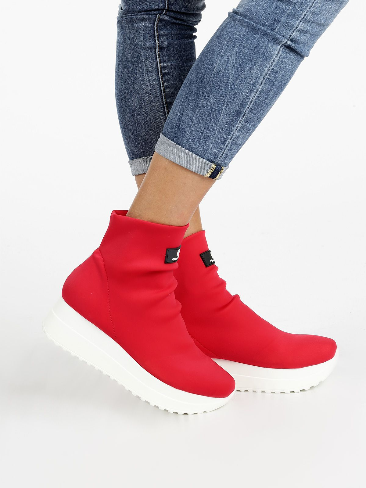7d479ab78c Sneakers a calzino rosse nel 2019 | Mecshopping | Scarpe Donna ...