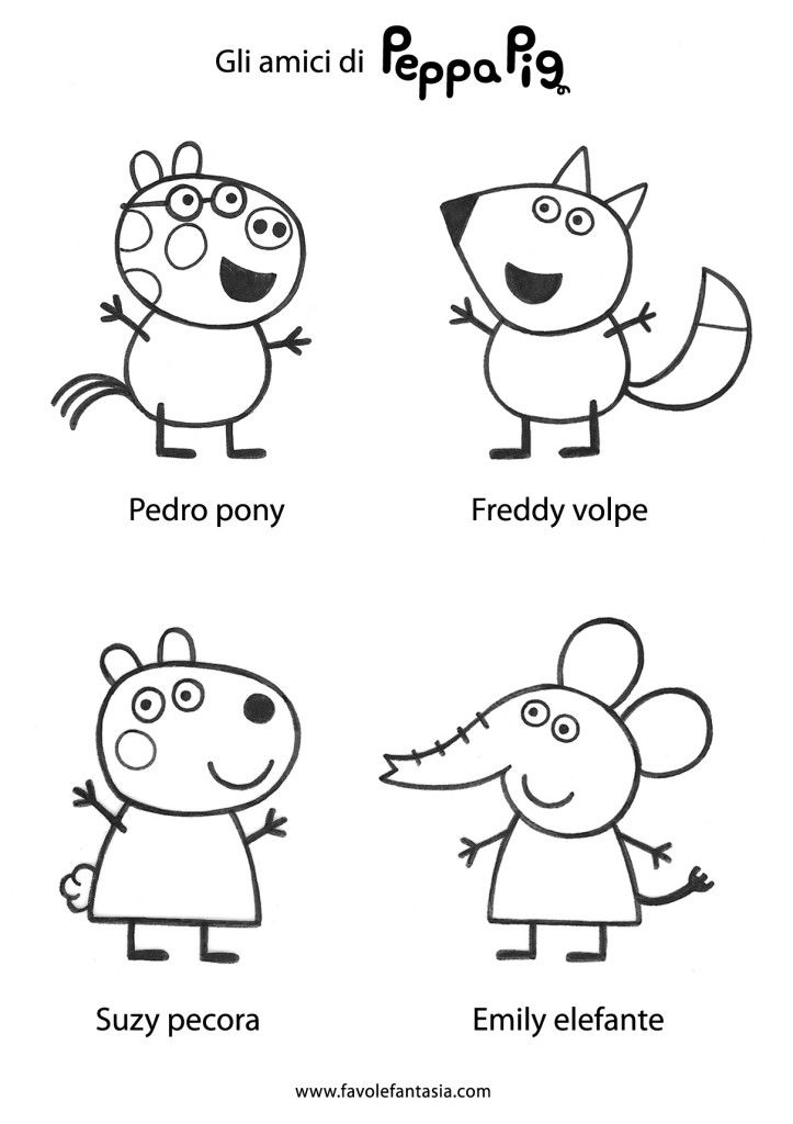 Peppa Pig ITALIANO Pinterest Puppet, Finger puppets and Bullet - new free coloring pages for peppa pig