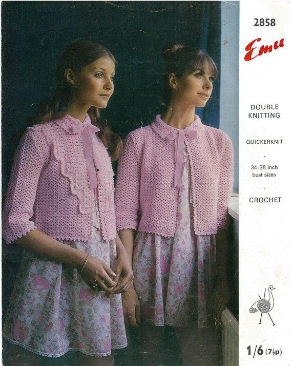 Retro Ladies Crochet Bed Jacket Vintage By Aplaceofinterest 149