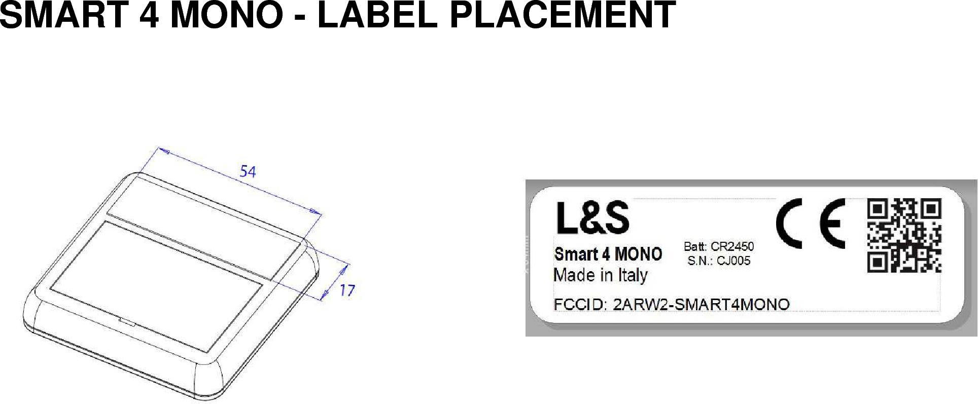 L And S Italia Srl Remote Control Smart4mono 2arw2