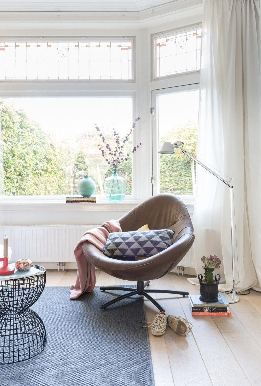 Woonkamer inspiratie | Leather armchair | Styling Sabine Burkunk | Photography Hans Mossel |  vtwonen May 2015