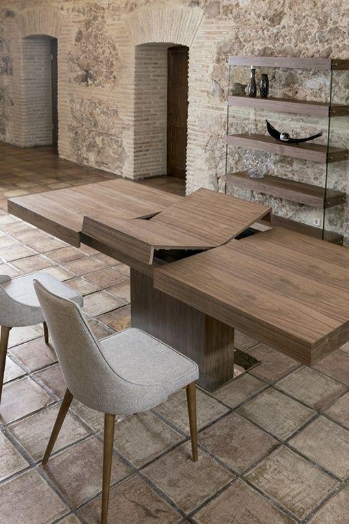 Mesa de comedor de madera extensible, de Angel Cerdá | Salones y ...