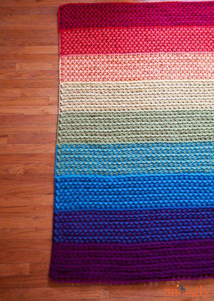 La Teja marroquí afgano :: patrón # crochet gratis con instrucciones para 6 tamaños diferentes y combinaciones de colores infinitos!