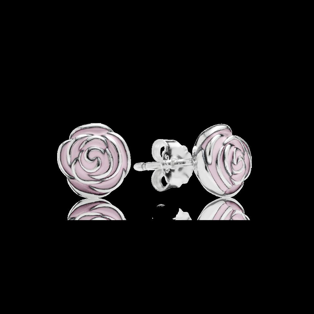 pandora boucles d'oreilles rose