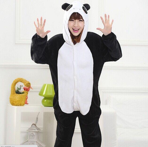 890e5d07228b9 Pas cher Panda Onesie Jumpsuit pyjamas animaux Cosplay Costume Halloween  Costumes pour femmes hommes Disfraces adultes Onesies pour adultes D10, ...