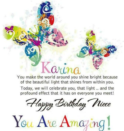Karina happy birthday niece happy birthday my friend happy birthday niece you are amazing free niece birthday cards bookmarktalkfo Image collections