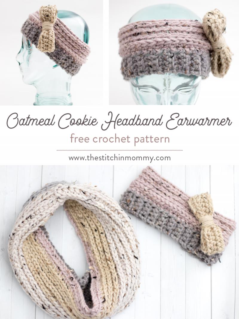 Oatmeal Cookie Headband Earwarmer - Free Crochet Pattern | Pinterest ...