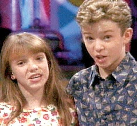 check out justin timberlake and britney spears when they