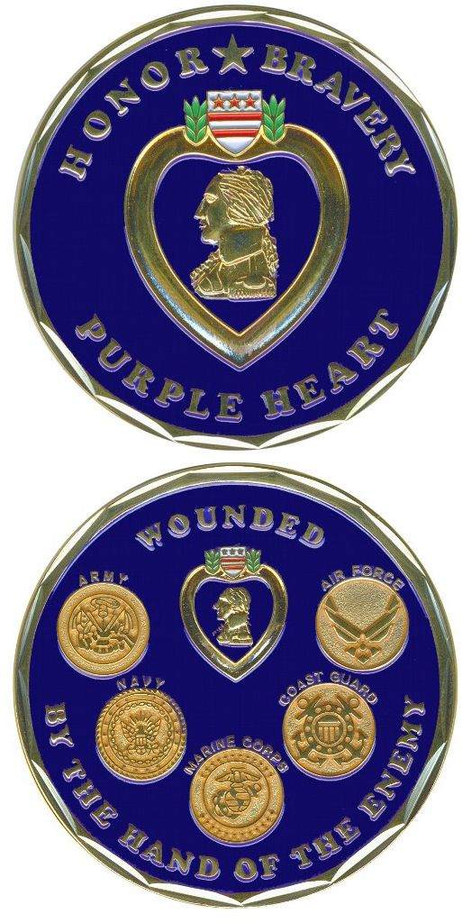 Challenge Coin-Purple Heart | all | Challenge coins, Coins