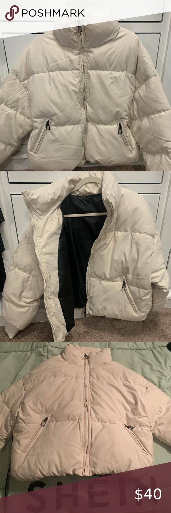 Beige Puffer Coach From Shein Beige Puffer Coats Jackets Women Plaid Winter Coat [ 1740 x 580 Pixel ]