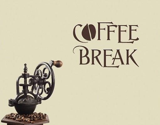 Wandtattoo Sprüche - Wandworte NoSF315 #Coffee Break 4 #Küche - wandtattoos spr che k che