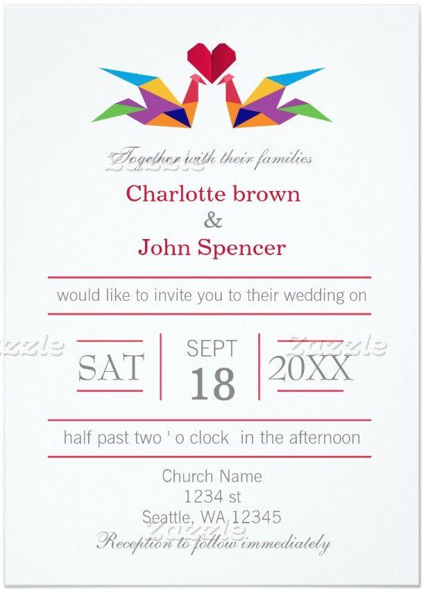 11 Incredible Origami Crane Wedding Invitations Multiculturally Wed Crane Wedding Invitations Wedding Invitations Stationery Wedding Invitations