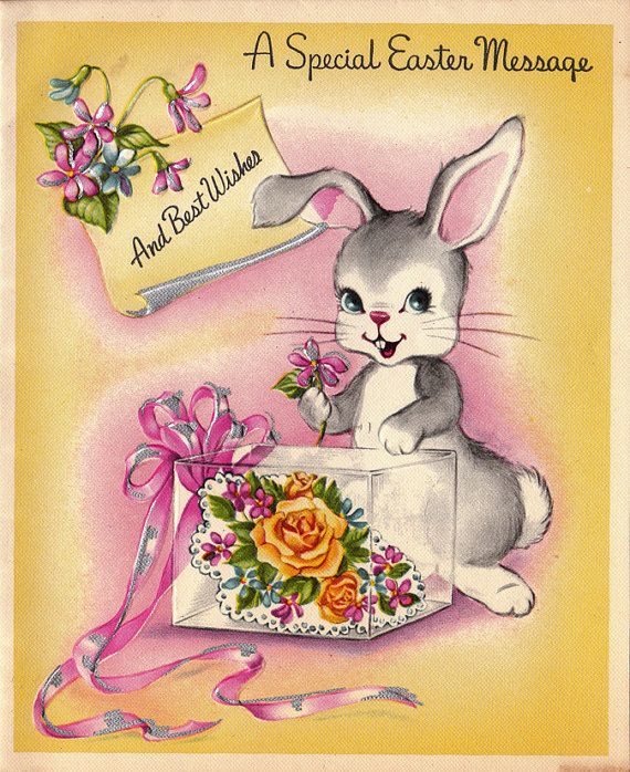 Vintage 1949 A Special Easter Message by poshtottydesignz on Etsy